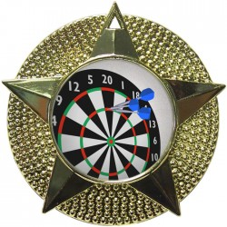 Gold Darts Medal 48mm