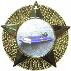 Gold Rubber Dinghy Medal 48mm