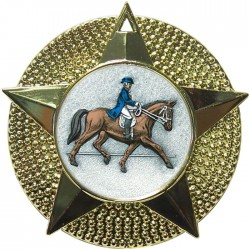 Gold Dressage Medal 48mm