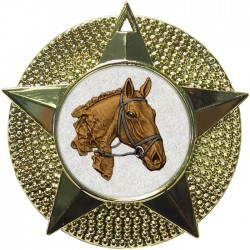 Gold Equestrian Medal 48mm