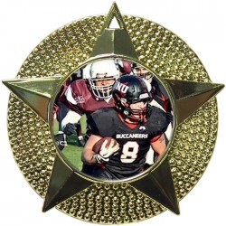 Gold American Football Medal 48mm