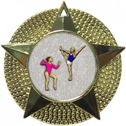Gold Gymnastics Floor Medal 48mm