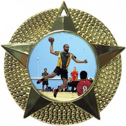 Gold Handball Medal 48mm