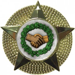 Gold Handshake Medal 48mm