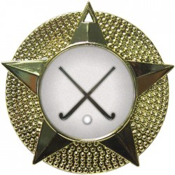 Gold Hockey Medal 48mm