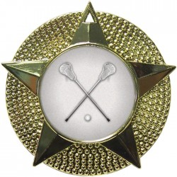Gold Lacrosse Medal 48mm