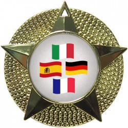Gold Languages Medal 48mm