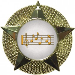 Gold Music Medal 48mm