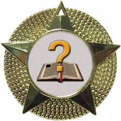Gold Quiz Medal 48mm