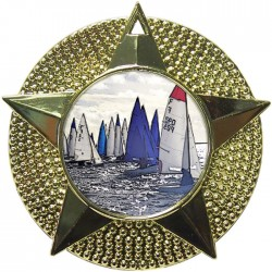 Gold Sailing Medal 48mm