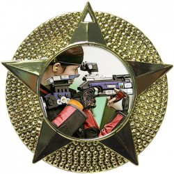Gold Rifle Shooting Medal 48mm