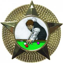 Gold Snooker Medal 48mm