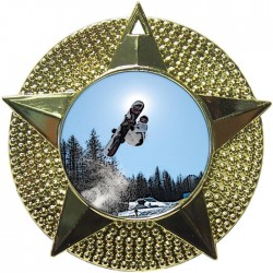 Gold Snowboarding Medal 48mm