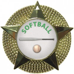 Gold Softball Medal 48mm