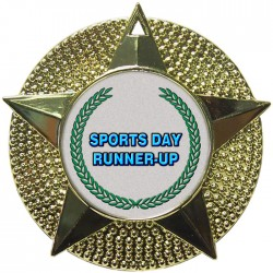 Gold Sports Day Runner Up Medal 48mm