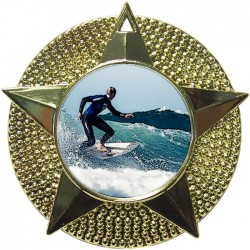 Gold Surfing Medal 48mm