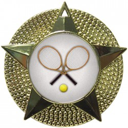 Gold Tennis Medal 48mm