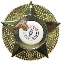 Gold Frisbee Medal 48mm