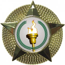 Gold Victory Torch Medal 48mm