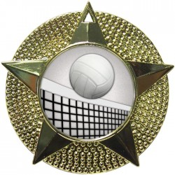 Gold Volleyball Medal 48mm