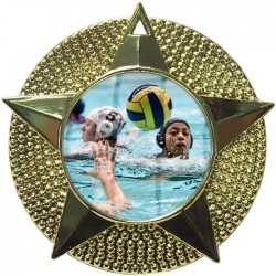 Gold Water Polo Medal 48mm