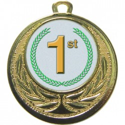 Gold 1st Place Medal 40mm