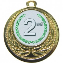 Gold 2nd Place Medal 40mm