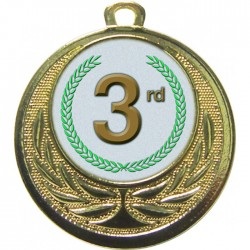 Gold 3rd Place Medal 40mm