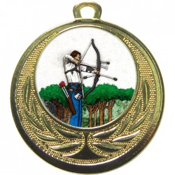 Gold Archery Medal 40mm