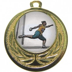 Gold Discus Medal 40mm