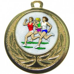 Gold Female Athlete Medal 40mm