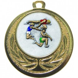 Gold Jumping Athlete Medal 40mm