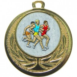 Gold Male Athlete Medal 40mm