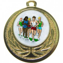 Gold Marathon Medal 40mm