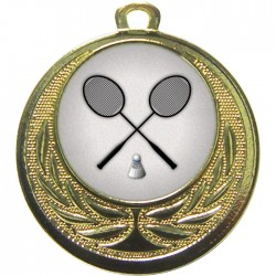 Gold Badminton Medal 40mm