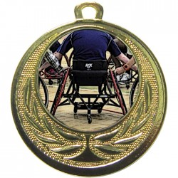 Gold Wheelchair Basketball Medal 40mm