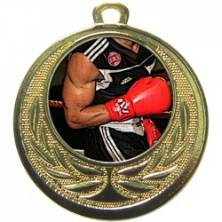 Gold Boxing Medal 40mm