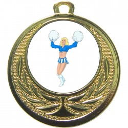 Gold Cheerleader Medal 40mm