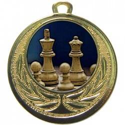Gold Chess Medal 40mm