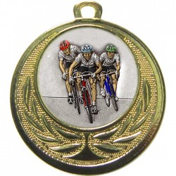Gold Cycling Medal 40mm