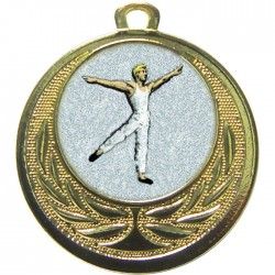 Gold Male Dance Medal 40mm