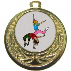 Gold Street Dance Medal 40mm