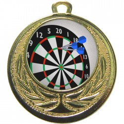 Gold Darts Medal 40mm