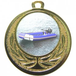 Gold Rubber Dinghy Medal 40mm