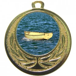 Gold Wooden Dinghy Medal 40mm