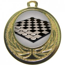 Gold Draughts Medal 40mm
