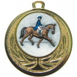 Gold Dressage Medal 40mm