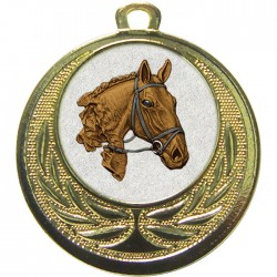 Gold Equestrian Medal 40mm