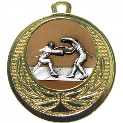 Gold Fencing Medal 40mm