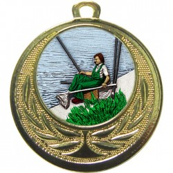 Gold Fishing Medal 40mm